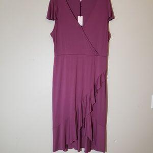 Juicy Couture Wine color Wrap Dress